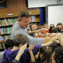 Matt Birk, Battle Grove Elementary students