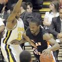 Morgan State's Reggie Holmes drives