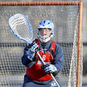 Johns Hopkins goalie Michael Gvozden