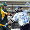 Siena's Brendan Meehan, Johns Hopkins' Rob Guida