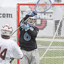 Johns Hopkins goalkeeper Michael Gvozden