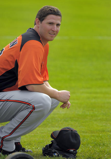 Orioles lefty Zach Britton watches his teammates pitch.