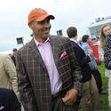 Football analyst Herman Edwards at Preakness 2013