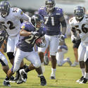 Ray Rice, Ray Lewis and Tavares Gooden