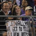 Fans' sign for NFL referees