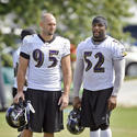 Jarret Johnson and Ray Lewis