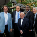 Jim Palmer, Cal Ripken Jr., Earl Weaver, Eddie Murray and Brooks Robinson