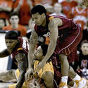 Sean Mosley fights for the loose ball