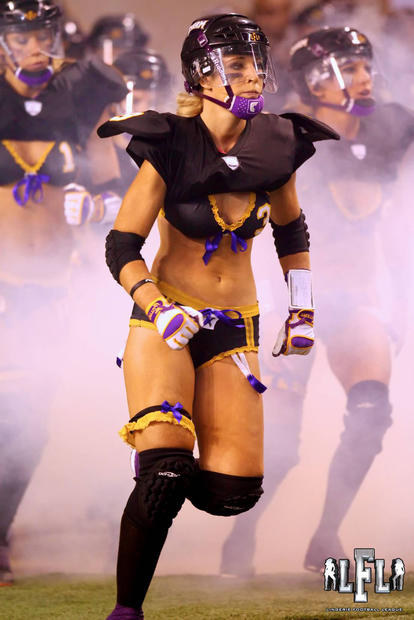 Celebrity traveler Kelly Campbell is a defensive back for the Baltimore Charm lingerie football team.