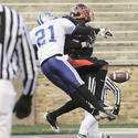 Morgan State's Terrell White unable to catch the pass