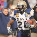 Navy running back Shun White
