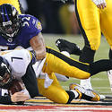 Ray Lewis sacks Ben Roethlisberger