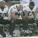 Terrell Suggs, Jarret Johnson, Ray Lewis