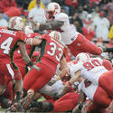 North Carolina State's Andre Brown scores a TD