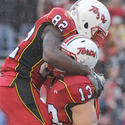Dan Gronkowski and Torrey Smith celebrate