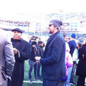 Michael Phelps at Ravens-Colts AFC Wild Card game