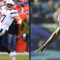 Chargers QB Philip Rivers vs Ravens S Ed Reed