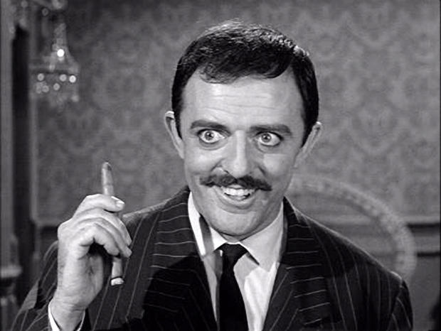 "John Astin in the original ""The Addams Family,"" snap, snap"