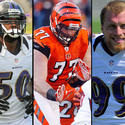 Ravens OLBs Paul Kruger and Albert McClellan vs. Bengals OL Andrew Whitworth