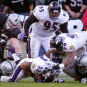 Ray Lewis recovers a fumble