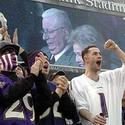 Fans cheer for Art Modell
