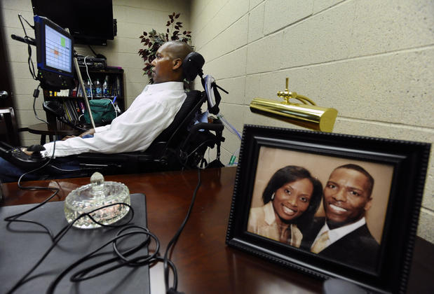 Former Ravens player and the senior advisor to Players Development O. J. Brigance  credits his faith in God and his wife Chanda (in picture) for his well being.