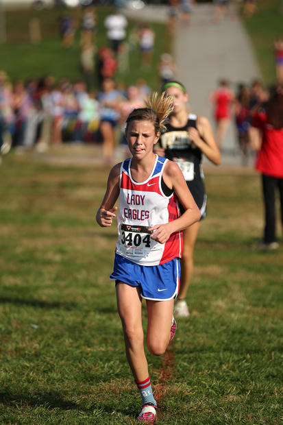 Centennial's Devin McIntyre runs during the Howard County cross country championships.