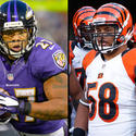 Ravens RB Ray Rice vs. Bengals MLB Rey Maualuga