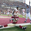 Boston College wide receiver Justin Jarvis