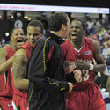 Terps players celebrate