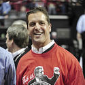 John Harbaugh watches the Terps