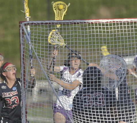 Northwestern's Samantha Santulli scores a goal during Friday's 13-12 overtime win over Penn. The Wildcats will face North Carolina on Sunday at Towson University.