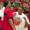 Lonny Baxter (left) and Juan Dixon