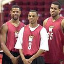 Byron Mouton, Juan Dixon and Lonny Baxter