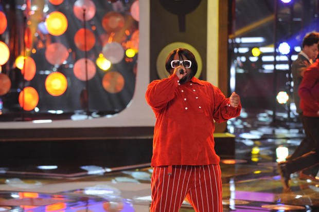 Actually, the more inexplicably weird fashion decisions for Cee Lo, the better. More wigs, more rhinestones, maybe a couple of capes, perhaps a top hat, or a sidecar to his spinning chair for his animal friend.