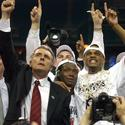 Coach Gary Williams and Juan Dixon