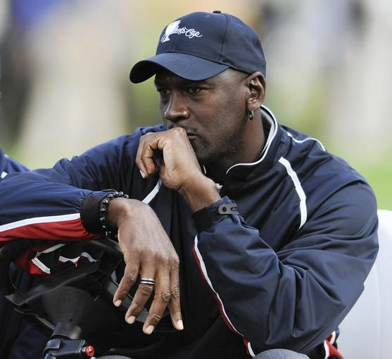 United States team honorary captain Michael Jordan at the 2009 President's Cup in San Francisco.