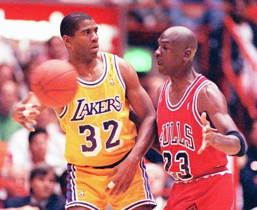 In 1991, the Bulls finally got past Dumars and the Pistons and moved on to Magic Johnson and the Los Angeles Lakers in the NBA Finals.