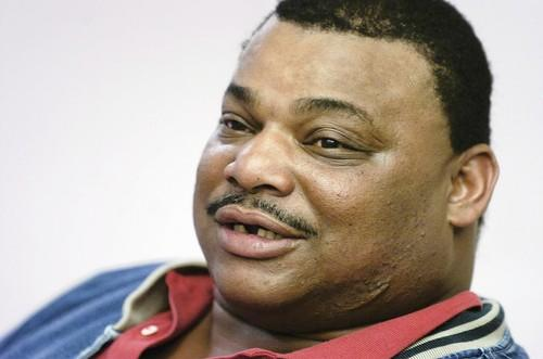"Former Chicago Bears great, William ""Refrigerator"" Perry, during an interview in the Chicago Tribune newsroom in 2005."