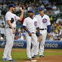 Cubs 5, Rockies 0 (8 inn.)