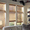 Install wood blinds