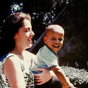 Barack and mother