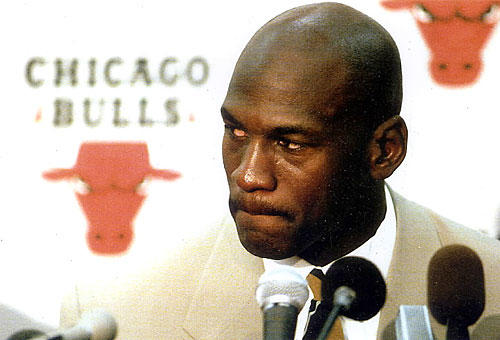 Michael Jordan announces his (first) retirement from the NBA following a summer in which his father was murdered.