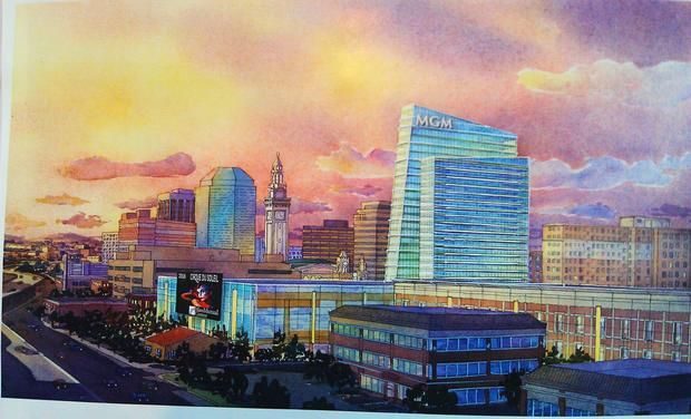 An artist's rendering of MGM's plan for a Springfield casino.