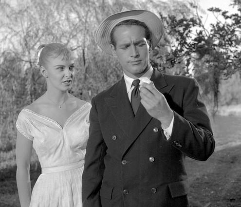 Actors Joanne Woodward and Paul Newman appear in the film ''A Long Hot Summer'' in this 1958 file photo.