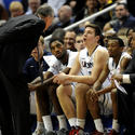 Tyler Olander Gets An Earful From Coach Jim Calhoun