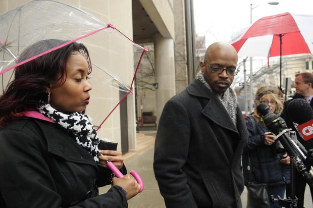 "Tashana Milton, of West Haven, (left) and Timothy Anderson, of New Haven, two of the jurors in the Joshua Komisarjevsky trial, talk to reporters outside New Haven Superior Court after Komisarjevsky was sentenced to death for the killing of Jennifer Hawke-Petit and her two daughters, Hayley and Michaela, in July 2007 in the Cheshire home invasion. Anderson said he now opposes the death penalty after his experience at the trial. ""I feel like a hypocrite now,"" he said."
