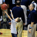 Jim Calhoun With His 8-Year-Old Grandson