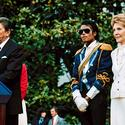 Michael Jackson with President and Nancy Reagan at the White House