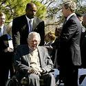 President George W. Bush and Paul Brown